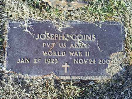 GOINS, JOSEPH - Ross County, Ohio | JOSEPH GOINS - Ohio Gravestone Photos
