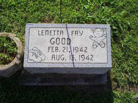 GOOD, LENETTA FAY - Ross County, Ohio | LENETTA FAY GOOD - Ohio Gravestone Photos