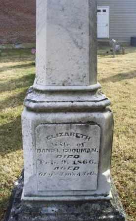 GOODMAN, ELIZABETH - Ross County, Ohio   ELIZABETH GOODMAN - Ohio Gravestone Photos