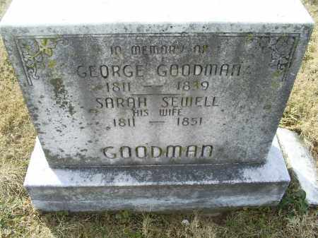 SEWELL GOODMAN, SARAH - Ross County, Ohio | SARAH SEWELL GOODMAN - Ohio Gravestone Photos