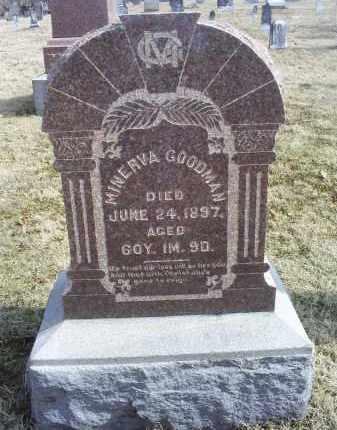 GOODMAN, MINERVA - Ross County, Ohio | MINERVA GOODMAN - Ohio Gravestone Photos