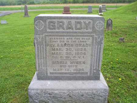 GRADY, REV AARON - Ross County, Ohio | REV AARON GRADY - Ohio Gravestone Photos