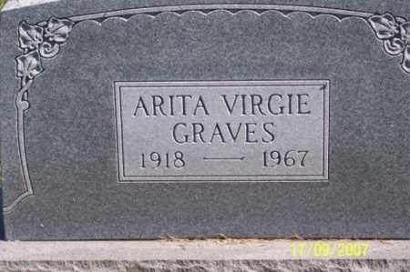 GRAVES, ARITA VIRGIE - Ross County, Ohio | ARITA VIRGIE GRAVES - Ohio Gravestone Photos