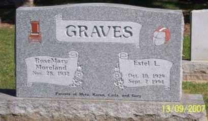 GRAVES, ESTEL L. - Ross County, Ohio | ESTEL L. GRAVES - Ohio Gravestone Photos