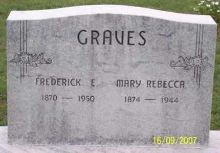 GRAVES, MARY REBECCA - Ross County, Ohio | MARY REBECCA GRAVES - Ohio Gravestone Photos