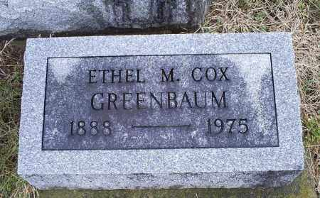 COX GREENBAUM, ETHEL M. - Ross County, Ohio | ETHEL M. COX GREENBAUM - Ohio Gravestone Photos