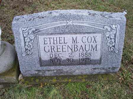 COX GREENBAUM, ETHEL M. - Ross County, Ohio | ETHEL M. COX GREENBAUM - Ohio Gravestone Photos