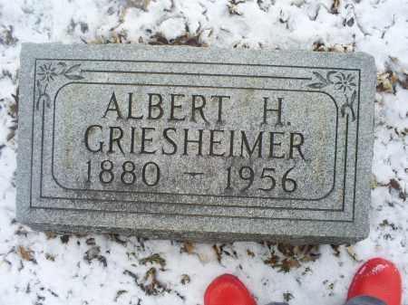 GRIESHEIMER, ALBERT H. - Ross County, Ohio | ALBERT H. GRIESHEIMER - Ohio Gravestone Photos
