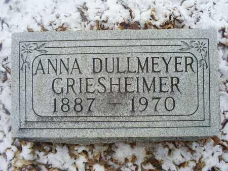 DULLMEYER GRIESHEIMER, ANNA - Ross County, Ohio | ANNA DULLMEYER GRIESHEIMER - Ohio Gravestone Photos