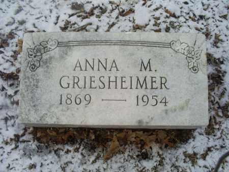 GRIESHEIMER, ANNA M. - Ross County, Ohio | ANNA M. GRIESHEIMER - Ohio Gravestone Photos
