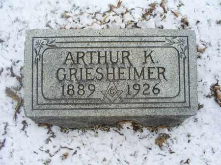 GRIESHEIMER, ARTHUR K. - Ross County, Ohio | ARTHUR K. GRIESHEIMER - Ohio Gravestone Photos
