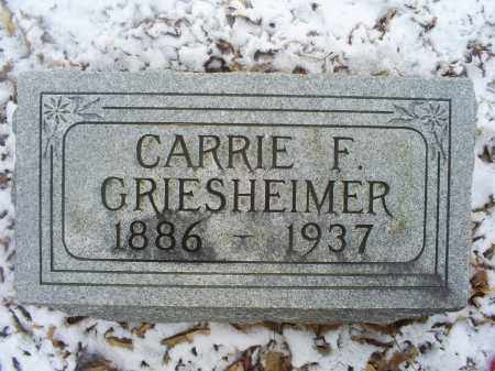 GRIESHEIMER, CARRIE F. - Ross County, Ohio | CARRIE F. GRIESHEIMER - Ohio Gravestone Photos
