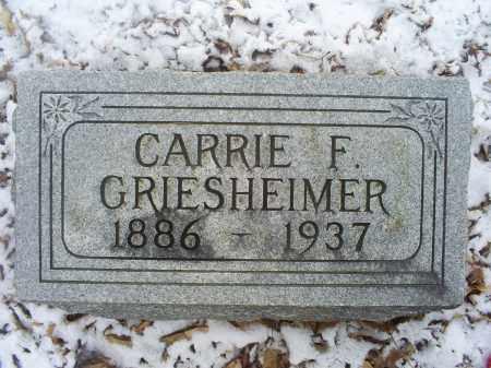 GRIESHEIMER, CARRIE F. - Ross County, Ohio | CARRIE F. GRIESHEIMER - Ohio Gravestone Photos