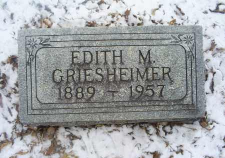 GRIESHEIMER, EDITH M. - Ross County, Ohio | EDITH M. GRIESHEIMER - Ohio Gravestone Photos