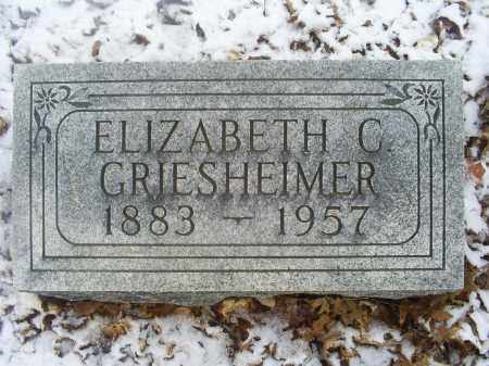 GRIESHEIMER, ELIZABETH C. - Ross County, Ohio | ELIZABETH C. GRIESHEIMER - Ohio Gravestone Photos