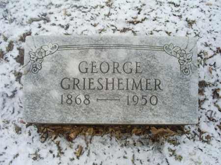 GRIESHEIMER, GEORGE - Ross County, Ohio | GEORGE GRIESHEIMER - Ohio Gravestone Photos