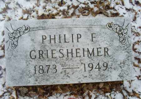 GRIESHEIMER, PHILIP F. - Ross County, Ohio | PHILIP F. GRIESHEIMER - Ohio Gravestone Photos