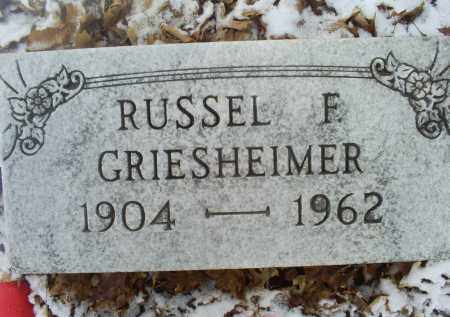 GRIESHEIMER, RUSSEL F. - Ross County, Ohio | RUSSEL F. GRIESHEIMER - Ohio Gravestone Photos