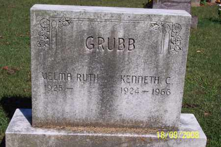 GRUBB, KENNETH C - Ross County, Ohio | KENNETH C GRUBB - Ohio Gravestone Photos
