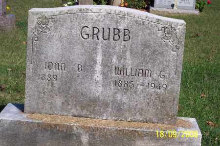 GRUBB, WILLIAM G - Ross County, Ohio | WILLIAM G GRUBB - Ohio Gravestone Photos