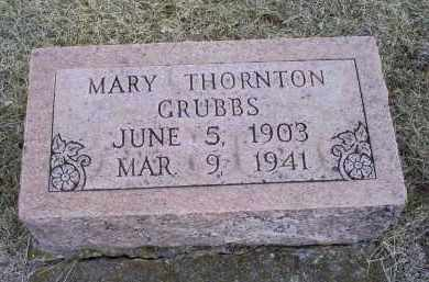 GRUBBS, MARY - Ross County, Ohio | MARY GRUBBS - Ohio Gravestone Photos