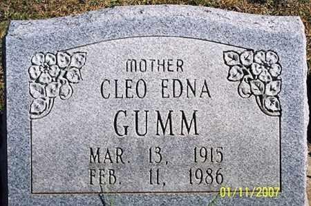 GUMM, CLEO EDNA - Ross County, Ohio | CLEO EDNA GUMM - Ohio Gravestone Photos