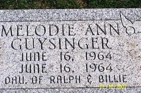 GUYSINGER, MELODIE ANN - Ross County, Ohio | MELODIE ANN GUYSINGER - Ohio Gravestone Photos