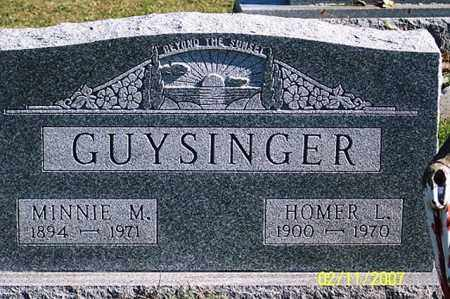 GUYSINGER, HOMER L. - Ross County, Ohio | HOMER L. GUYSINGER - Ohio Gravestone Photos
