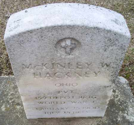 HACKNEY, MCKINLEY W. - Ross County, Ohio | MCKINLEY W. HACKNEY - Ohio Gravestone Photos