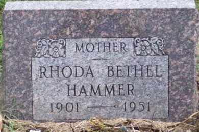 HAMMER, RHODA - Ross County, Ohio | RHODA HAMMER - Ohio Gravestone Photos