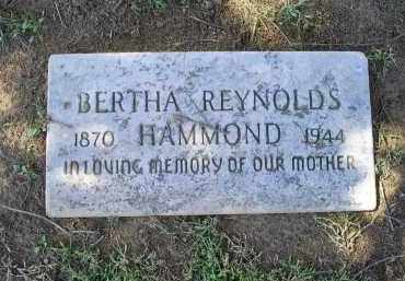 REYNOLDS HAMMOND, BERTHA - Ross County, Ohio | BERTHA REYNOLDS HAMMOND - Ohio Gravestone Photos