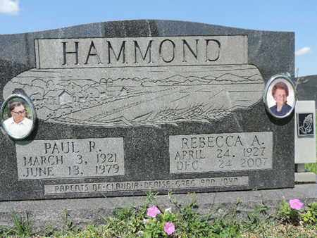 HAMMOND, REBECCA A - Ross County, Ohio | REBECCA A HAMMOND - Ohio Gravestone Photos