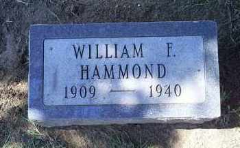HAMMOND, WILLIAM F. - Ross County, Ohio | WILLIAM F. HAMMOND - Ohio Gravestone Photos