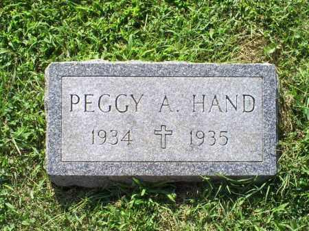 HAND, PEGGY A. - Ross County, Ohio | PEGGY A. HAND - Ohio Gravestone Photos