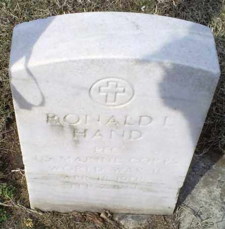 HAND, RONALD L. - Ross County, Ohio | RONALD L. HAND - Ohio Gravestone Photos