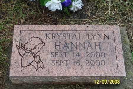 HANNAH, KRYSTAL LYNN - Ross County, Ohio | KRYSTAL LYNN HANNAH - Ohio Gravestone Photos