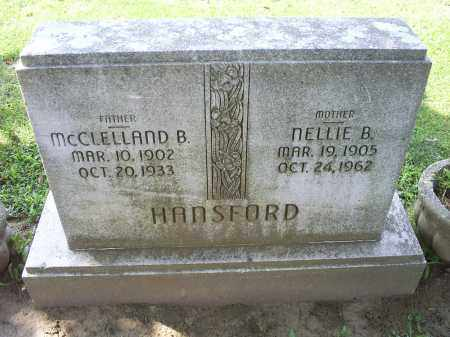 HANSFORD, MCCLELLAND B. - Ross County, Ohio | MCCLELLAND B. HANSFORD - Ohio Gravestone Photos