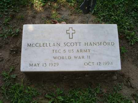 HANSFORD, MCCLELLAN SCOTT - Ross County, Ohio | MCCLELLAN SCOTT HANSFORD - Ohio Gravestone Photos