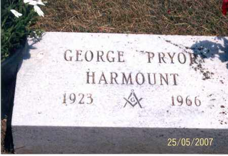 HARMOUNT, GEORGE PRYOR - Ross County, Ohio | GEORGE PRYOR HARMOUNT - Ohio Gravestone Photos