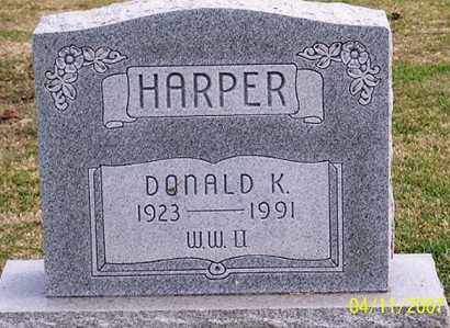 HARPER, DONALD K. - Ross County, Ohio | DONALD K. HARPER - Ohio Gravestone Photos