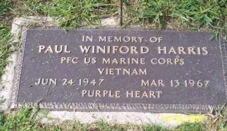 HARRIS, PAUL WINIFORD - Ross County, Ohio | PAUL WINIFORD HARRIS - Ohio Gravestone Photos