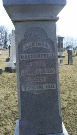HASSENPFLU, LUCINDA - Ross County, Ohio | LUCINDA HASSENPFLU - Ohio Gravestone Photos