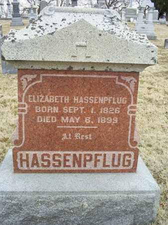 HASSENPFLUG, ELIZABETH - Ross County, Ohio | ELIZABETH HASSENPFLUG - Ohio Gravestone Photos