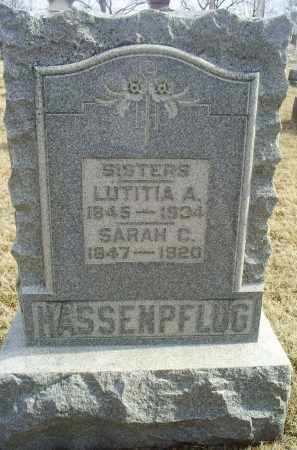 HASSENPFLUG, SARAH C. - Ross County, Ohio | SARAH C. HASSENPFLUG - Ohio Gravestone Photos