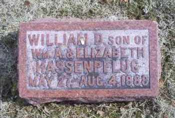 HASSENPFLUG, WILLIAM D. - Ross County, Ohio | WILLIAM D. HASSENPFLUG - Ohio Gravestone Photos
