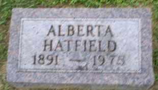 HATFIELD, ALBERTA - Ross County, Ohio   ALBERTA HATFIELD - Ohio Gravestone Photos
