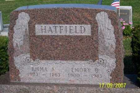 HATFIELD, EMORY O. - Ross County, Ohio | EMORY O. HATFIELD - Ohio Gravestone Photos