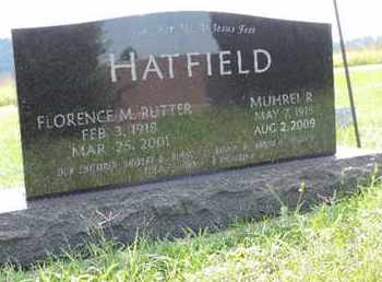 RUTTER HATFIELD, FLORENCE M. - Ross County, Ohio | FLORENCE M. RUTTER HATFIELD - Ohio Gravestone Photos