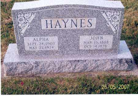 HAYNES, ALPHA - Ross County, Ohio | ALPHA HAYNES - Ohio Gravestone Photos