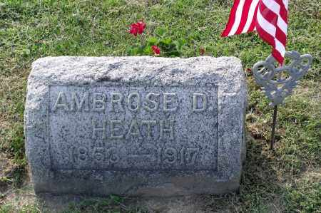 HEATH, AMBROSE D. - Ross County, Ohio | AMBROSE D. HEATH - Ohio Gravestone Photos